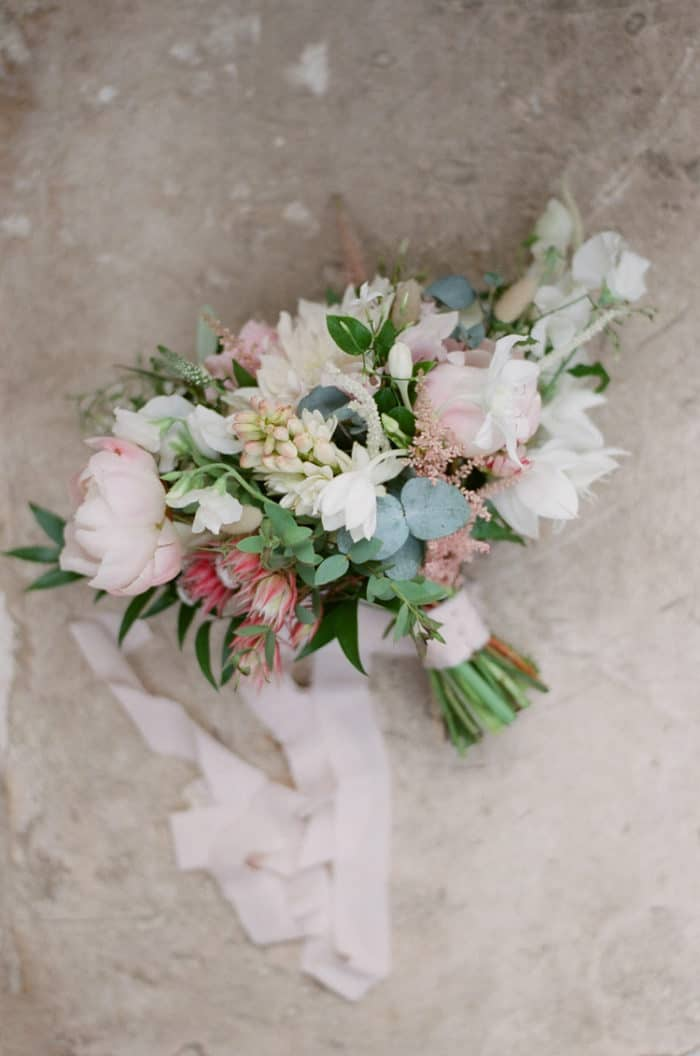 Bridal Bouquet At A Wedding At Barnsley House In The Cotswolds In England
