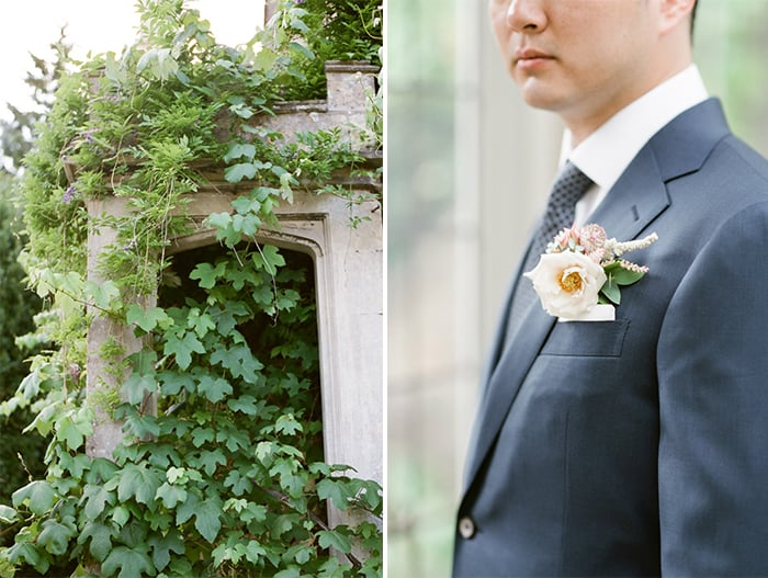 Groom Getting Ready On His Wedding Day At Barnsley House In The Cotswolds In England