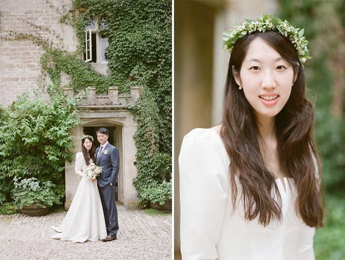 British Bride On Her Wedding Day At Barnsley House In The Cotswolds In England