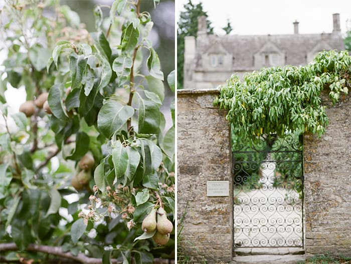 British Gate And Gardens At The Barnsley House In The Cotswolds In England