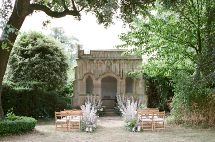 Wedding Ceremony Location At The Barnsley House In The Cotswolds In England On Her Wedding Day