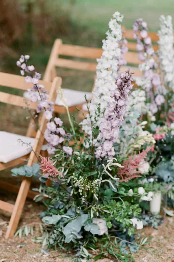 Wedding Ceremony Details With Florals At The Barnsley House In The Cotswolds In England On Her Wedding Day