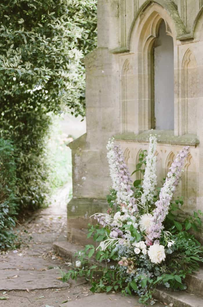 Wedding Florals At The Barnsley House In The Cotswolds In England On Her Wedding Day