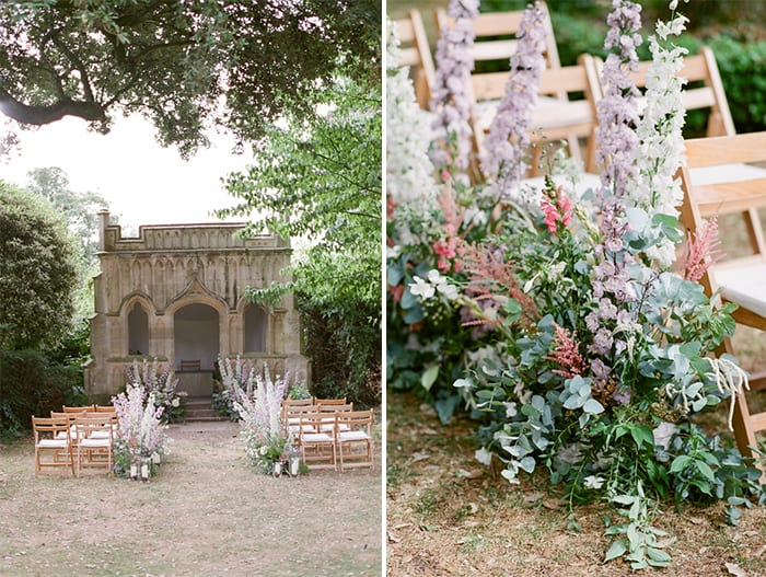 Wedding Ceremony At The Barnsley House In The Cotswolds In England On Her Wedding Day