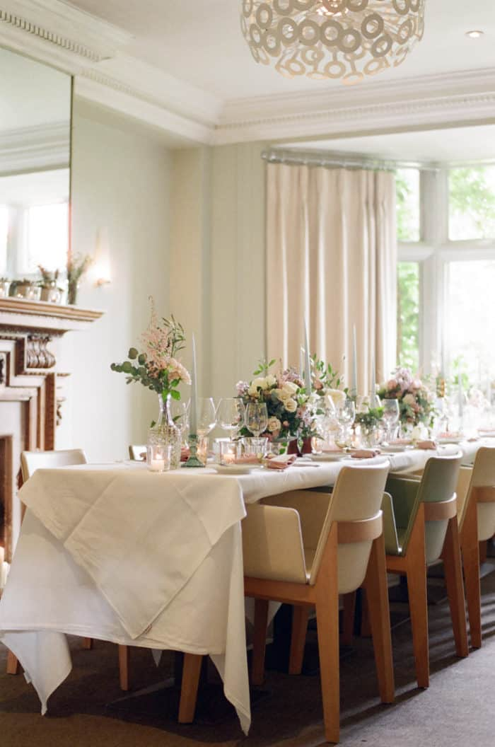 Wedding Reception Details At The Barnsley House In The Cotswolds In England On Her Wedding Day