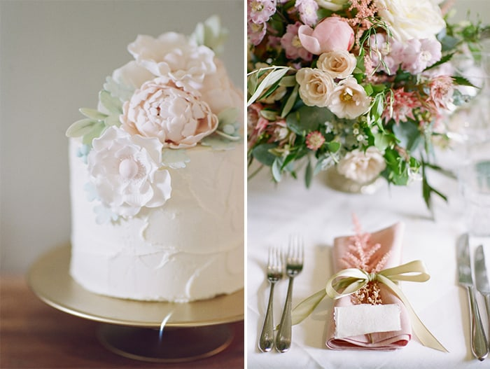 Wedding Cake At The Barnsley House In The Cotswolds In England On Her Wedding Day
