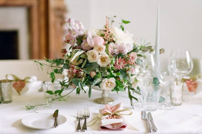 Wedding Table Details At The Barnsley House In The Cotswolds In England On Her Wedding Day