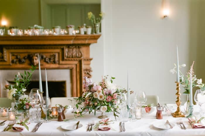 Wedding Reception Room At The Barnsley House In The Cotswolds In England On Her Wedding Day