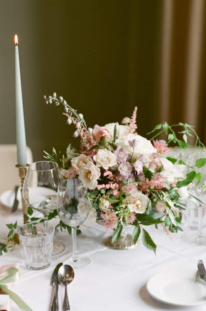 Wedding Tablescape Details At The Barnsley House In The Cotswolds In England On Her Wedding Day
