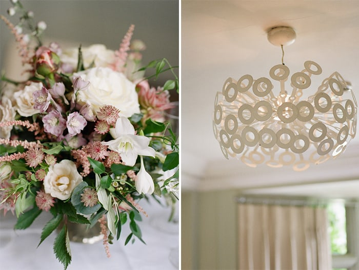Wedding Decor Details At The Barnsley House In The Cotswolds In England On Her Wedding Day