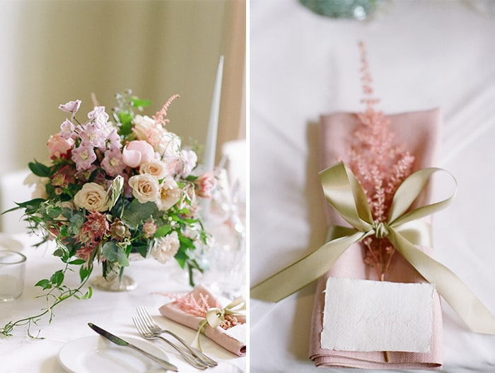 Wedding Napkins At The Barnsley House In The Cotswolds In England On Her Wedding Day