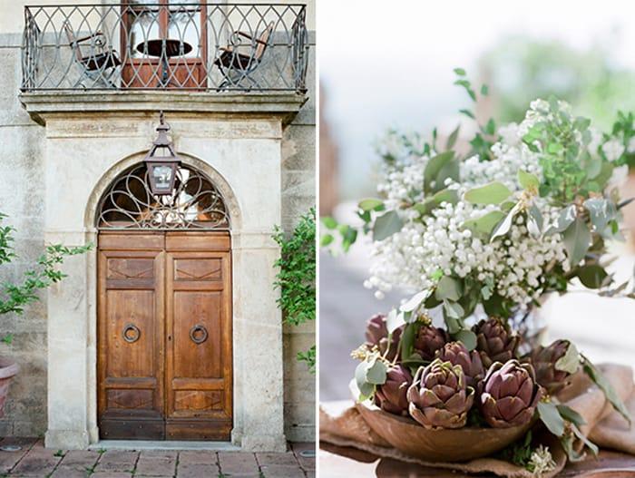 Artichokes Florals At Borgo Pignano In Tuscany In Italy With Sposiamovi Events