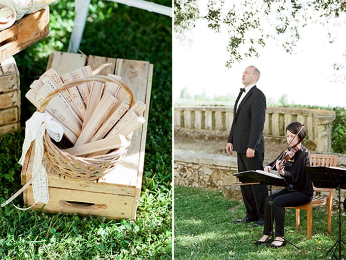 Tenor Singing During Wedding At Borgo Pignano In Tuscany In Italy With Sposiamovi Events