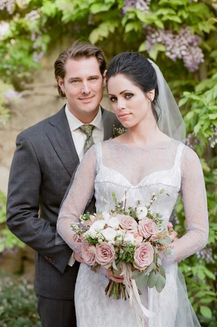 Bride And Groom At Borgo Pignano In Tuscany In Italy With Sposiamovi Events