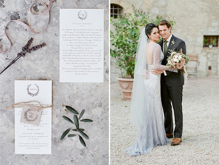 Wedding Couple Just Got Married At Borgo Pignano In Tuscany In Italy With Sposiamovi Events
