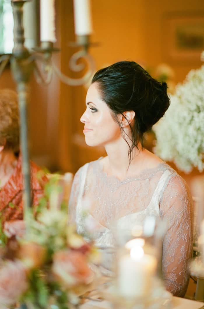 Bride Smiling During Her Wedding Reception At Borgo Pignano In Tuscany In Italy With Sposiamovi Events