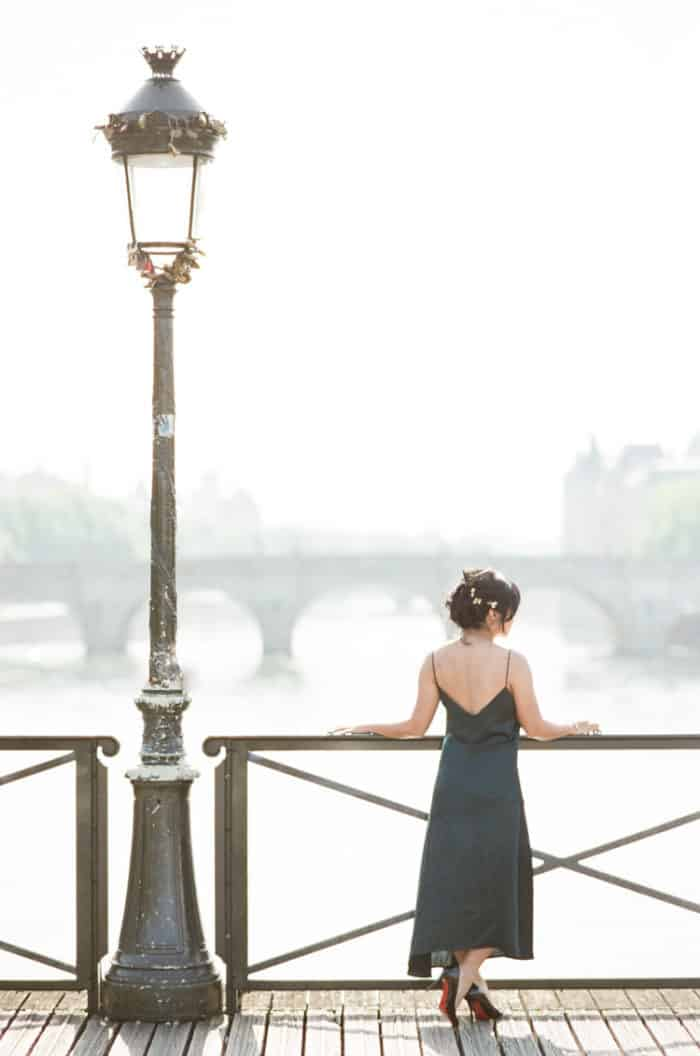 Bride To Be On Bridge In Paris Engagement With WEP