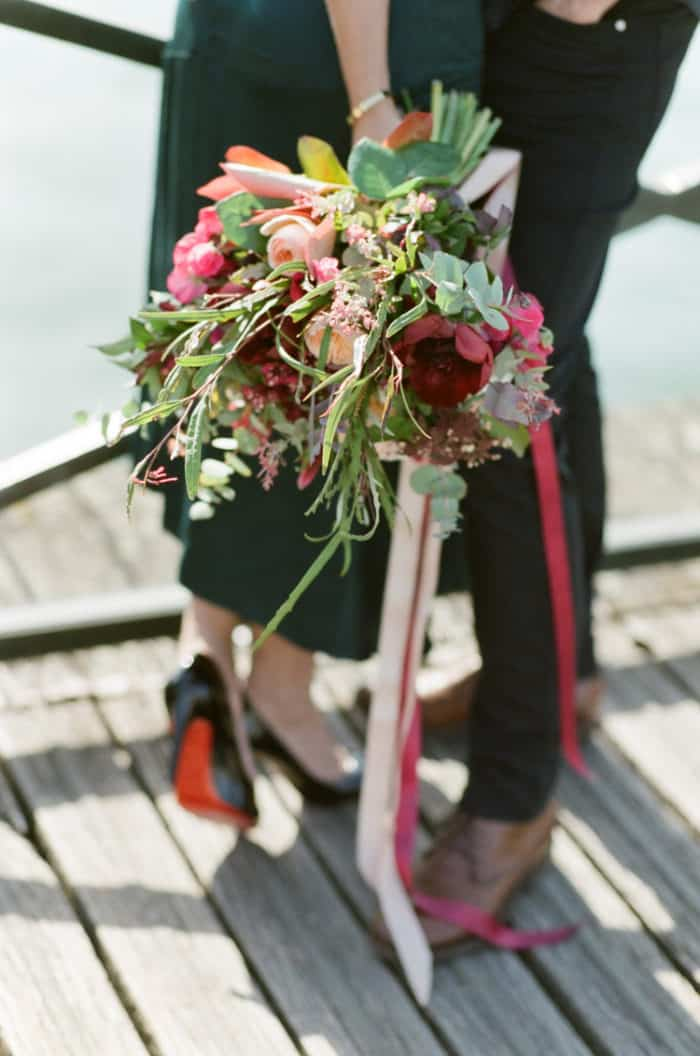 Bridal Bouquet In Paris Engagement With WEP