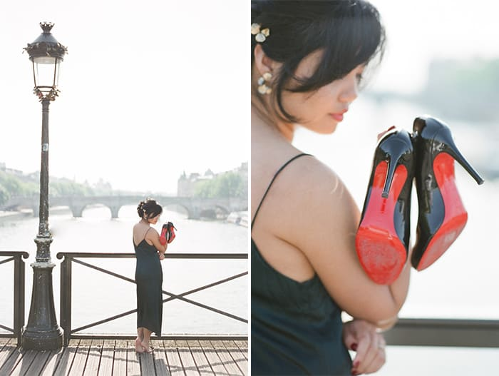 Bride To Be Wearing Louboutin At Paris Engagement With WEP