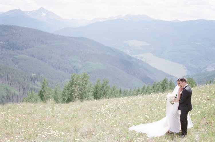 Bride At Vail Mountain Top With White Birch Weddings