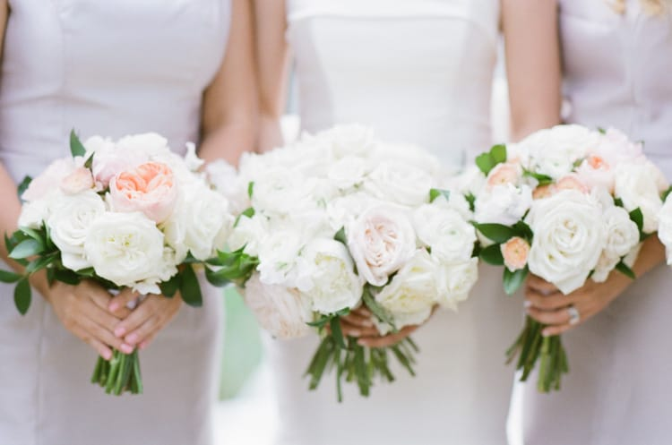 Bridesmaids With Bouquets At Four Seasons Vail Wedding With White Birch Weddings