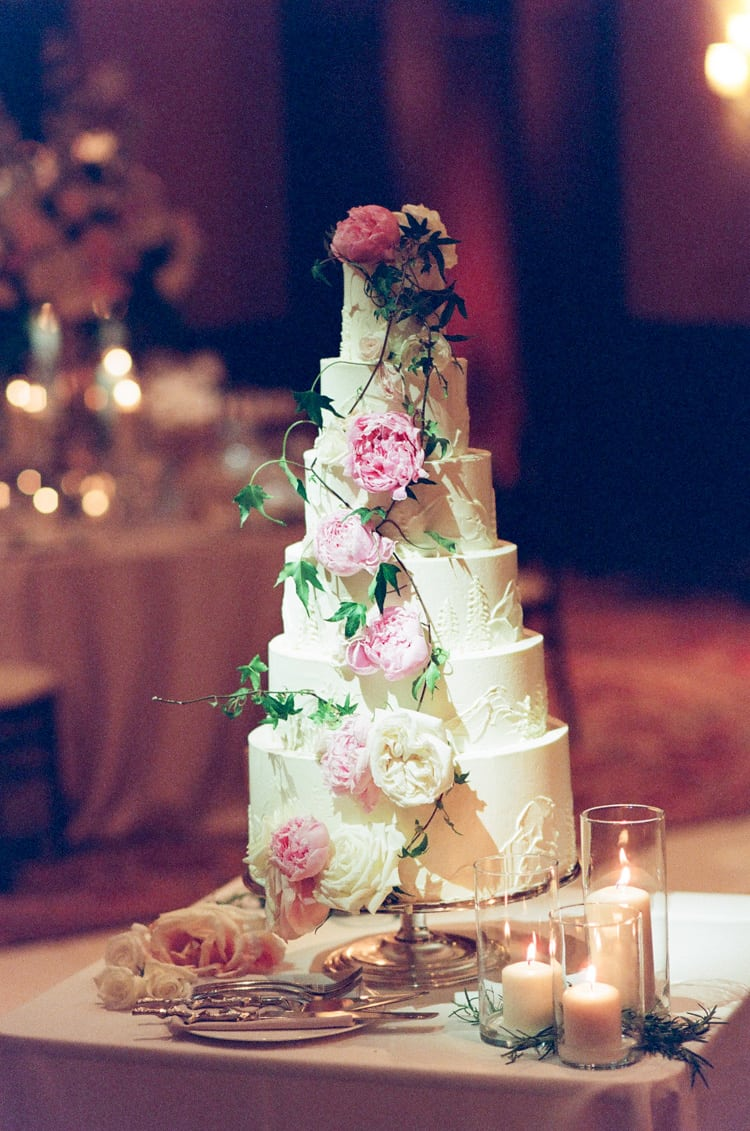 Wedding Cake At Four Seasons Vail Wedding With White Birch Weddings