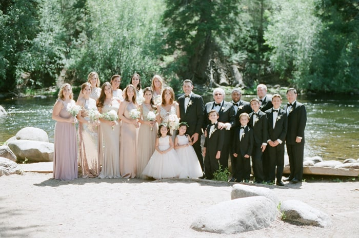 Wedding Party At The Westin Riverfront And Spa In Beaver Creek With Calluna Events