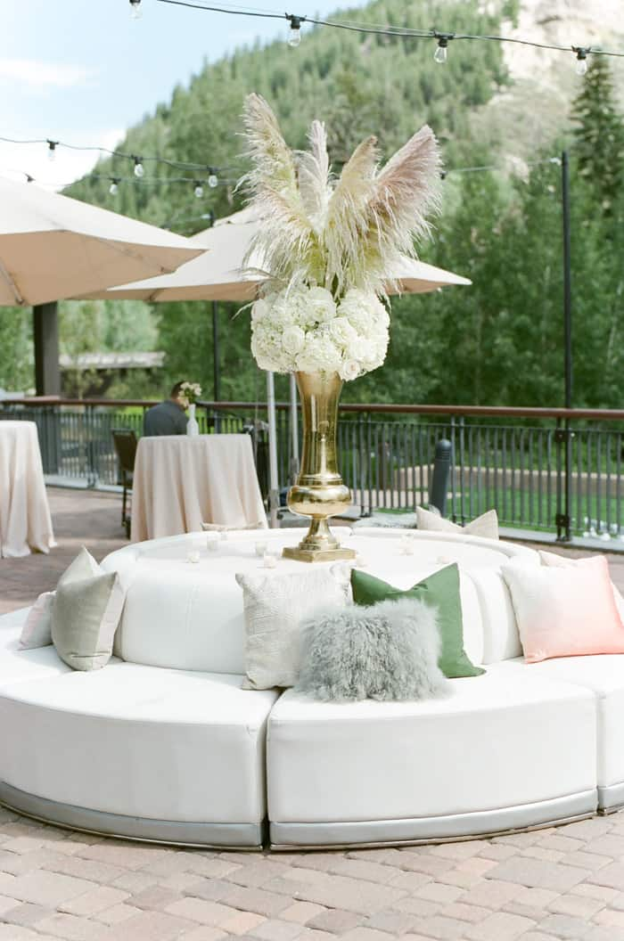 Wedding Reception At Jewish Wedding At The Westin Riverfront And Spa In Beaver Creek With Calluna Events