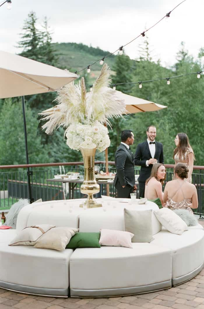 Cocktails At Jewish Wedding At The Westin Riverfront And Spa In Beaver Creek With Calluna Events