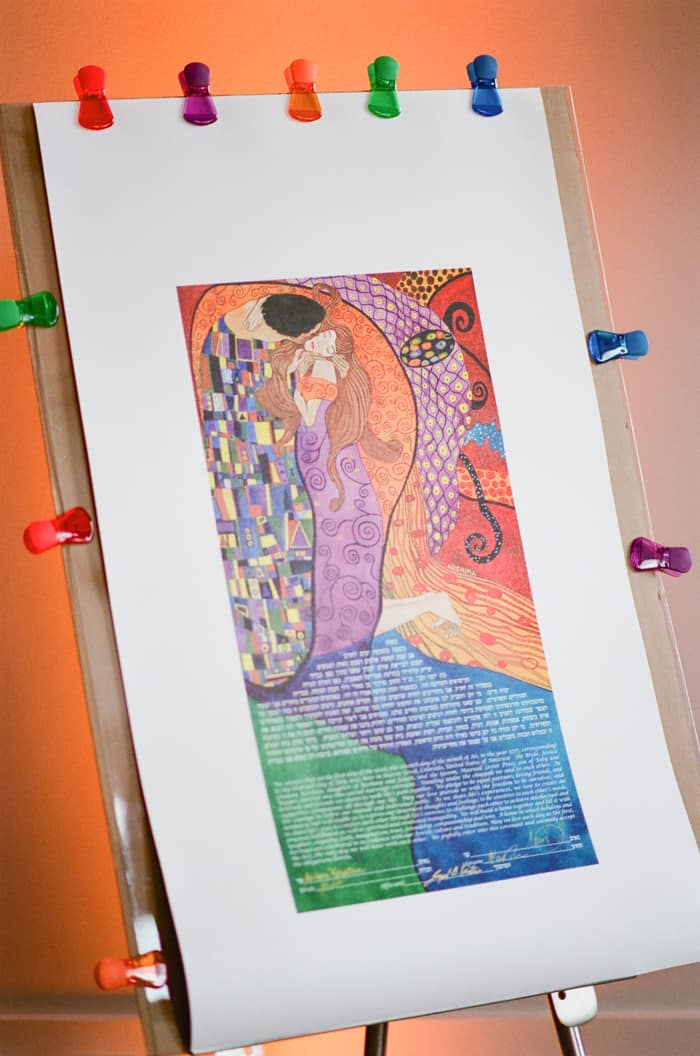 Ketubah At Jewish Wedding At The Westin Riverfront And Spa In Beaver Creek With Calluna Events