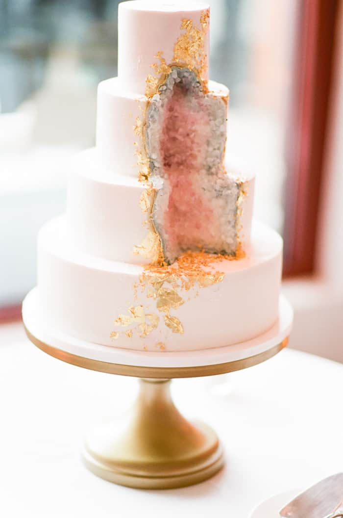 Wedding Cake At Jewish Wedding At The Westin Riverfront And Spa In Beaver Creek With Calluna Events