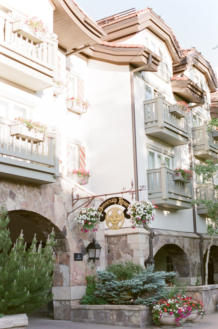 Outside of Sonnenalp Resort featuring its European architecture