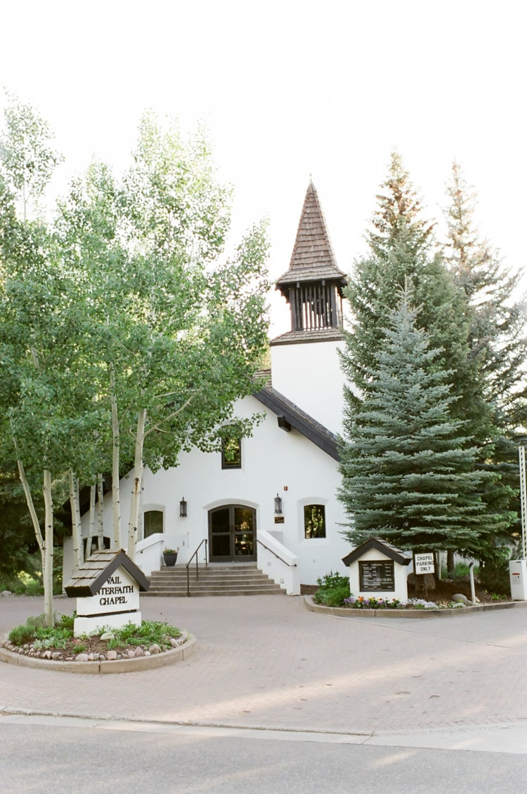Front view of Vail Interfaith Chapel