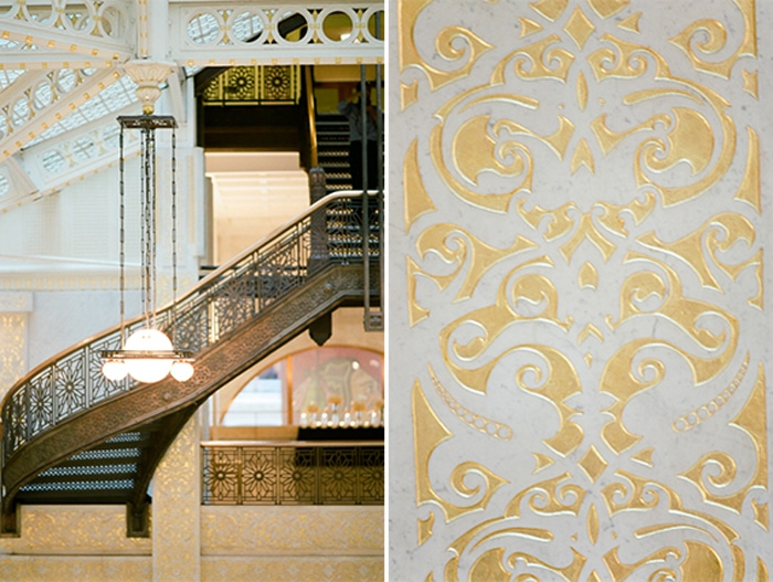 Grand staircase at The Rookery in Chicago
