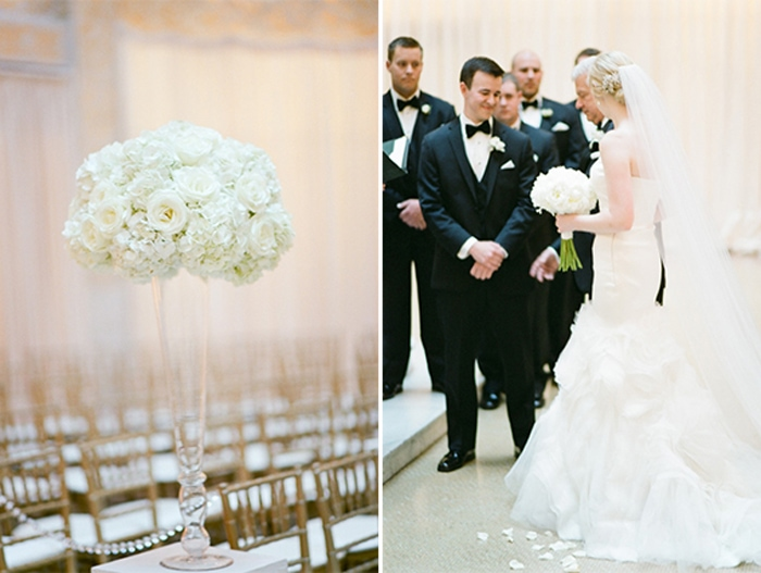 Wedding ceremony at The Rookery in Chicago