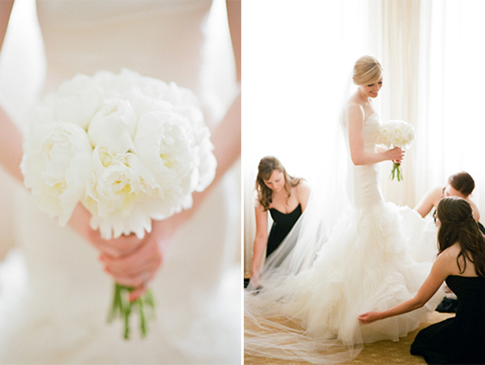 Bride getting ready for her classic wedding at The Rookery in Chicago