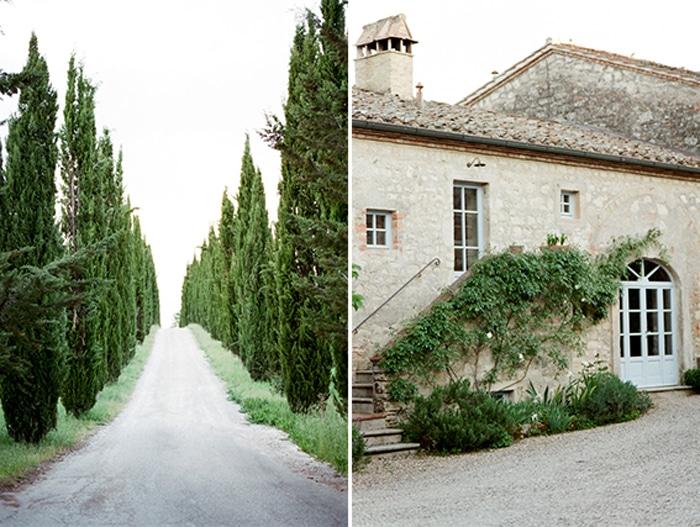 Grounds of Borgo Pignano wedding venue in Tuscany, Italy