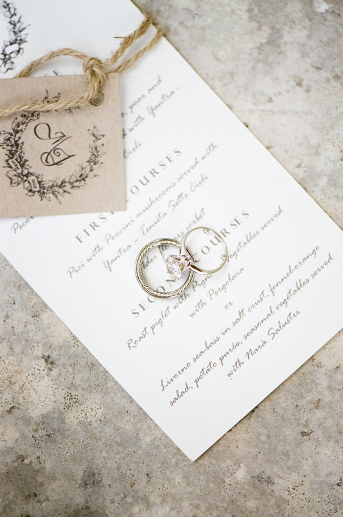 Invitation for a destination wedding in Tuscany