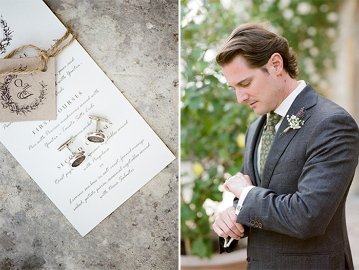 Groom prepares for his destination wedding in Tuscany