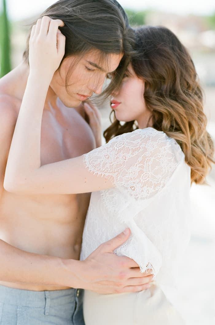 Engaged Couple At La Coquillade At Tamara Gruner Workshops