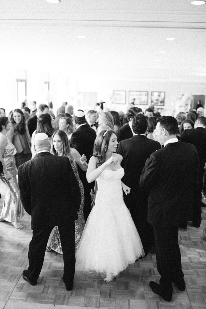 Full dance floor at a wedding reception at the Westin Riverfront Resort & Spa Beaver Creek