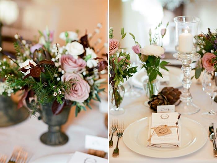 Wedding Reception Florals Of La Rosa Canina Firenze At Borgo Pignano In Tuscany In Italy With Sposiamovi Events