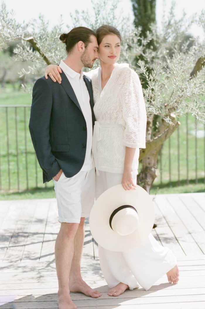 Couple Pool Engagement At Domaine De Manville In Provence During Tamara Gruner Workshops