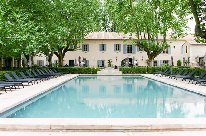 Swimming Pool At Domaine De Manville In Provence