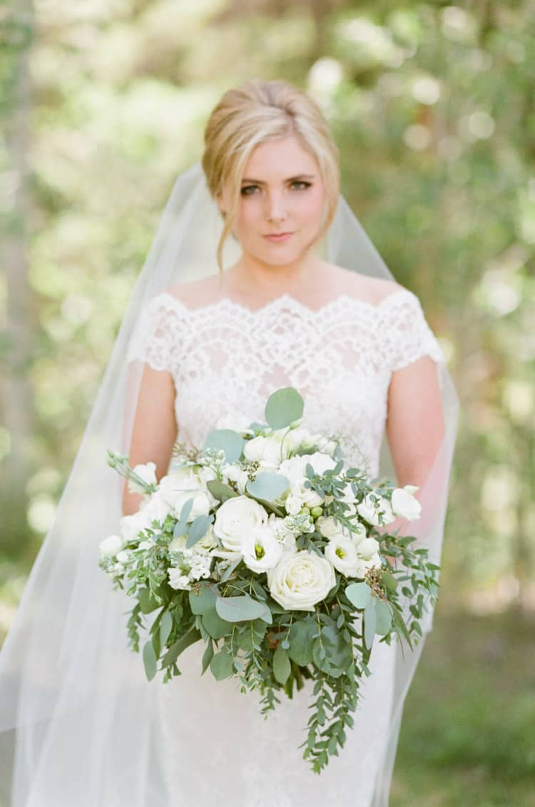 Bridal Portraits At Eaton Ranch Wedding In Vail With Bella Event Design And Planning