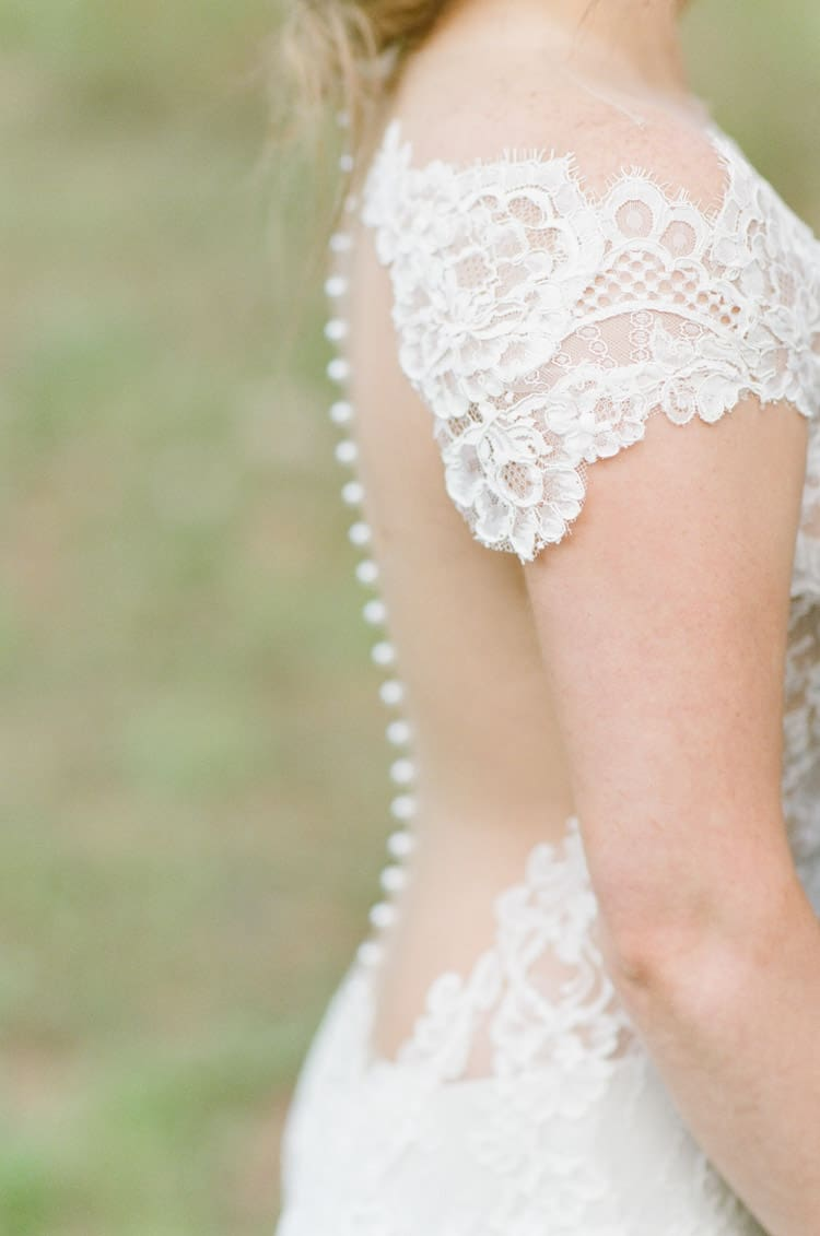 Bridal Ines Di Santo Wedding Dress Details At Eaton Ranch Wedding In Vail With Bella Event Design And Planning