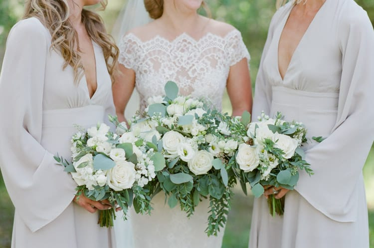 Bridal Party With Bouquets At Eaton Ranch Wedding In Vail With Bella Event Design And Planning