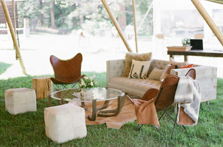 Teepee Lounge At Eaton Ranch Wedding In Vail With Bella Event Design And Planning