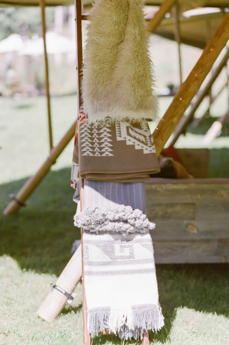 Wedding Blankets At Eaton Ranch Wedding In Vail With Bella Event Design And Planning