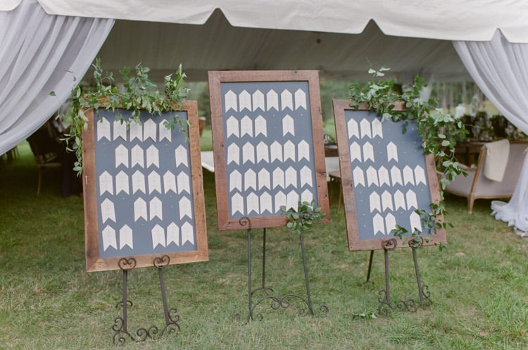 Wedding Placecards At Eaton Ranch Wedding In Vail With Bella Event Design And Planning